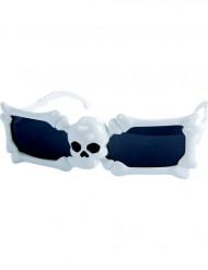 Gafas blancas calavera adulto Halloween