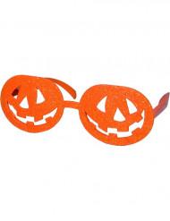 Gafas naranjas calabazas Halloween