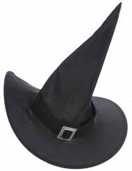 Sombrero bruja con hebilla dorada adulto Halloween