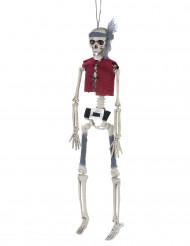 Decoración colgante esqueleto pirata Halloween