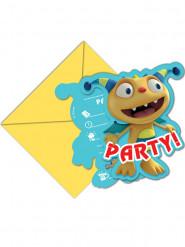 6 Tarjetas de invitación con sobres Henry, el monstruo feliz™