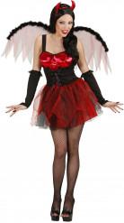 Disfraz de diablesa rojo sexy mujer Halloween