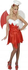Disfraz ángel y demonio mujer Halloween