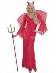 Disfraz diablesa encaje rojo mujer Halloween