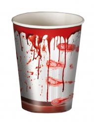 8 Vasos Halloween ensangrentados