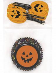 Moldes para magdalenas y palillos Halloween