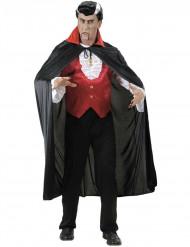 Capa vampiro cuello rojo adulto Halloween