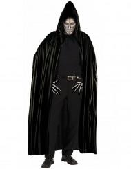 Capa negra con capucha adulto Halloween