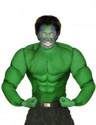 Camisa de músculos verdes adulto