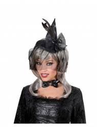 Mini sombrero bruja con velo adulto Halloween