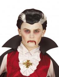 Peluca de vampiro bicolor niño Halloween