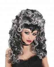 Peluca de vampiro bicolor mujer Halloween
