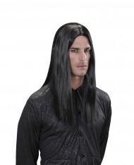 Peluca de vampiro negro adulto Halloween