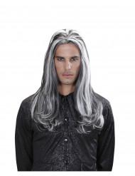 Peluca larga bicolor vampiro adulto Halloween