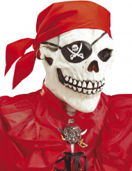 Máscara integral esqueleto pirata adulto Halloween