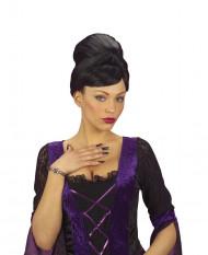 Uñas postizas bruja negro adulto Halloween