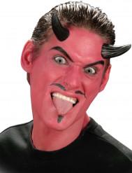 Cuernos de diablo negros adulto Halloween
