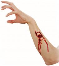 Herida falsa fractura adulto Halloween