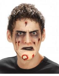 Mentón falso zombie adulto Halloween