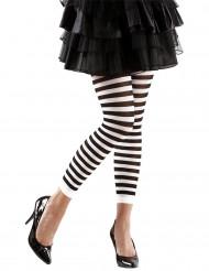 Legging de rayas negro y blanco adulto.
