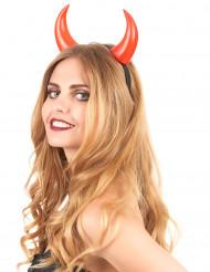 Cuernos rojos adulto Halloween