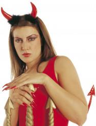 Cuernos rojos de diablo adulto Halloween