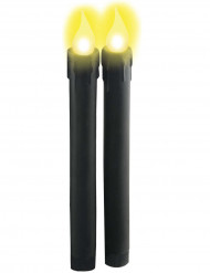 Velas luminosas negras de pilas