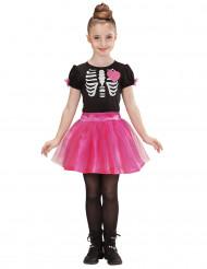 Difraz esqueleto rosa niña Halloween