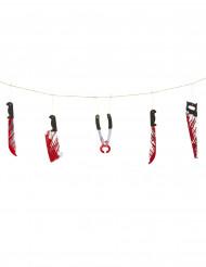 Guirnalda de armas sangrientas Halloween