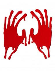 Huellas manos ensangrentados Halloween
