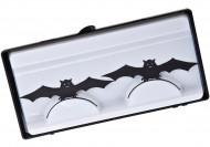 Pestañas cortas negras murciélago adulto Halloween