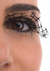 Pestañas cortas negras arañas adulto Halloween