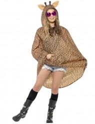 Poncho jirafa adulto