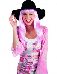 Sombrero de verano negro mujer