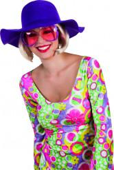 Sombrero de verano violeta mujer