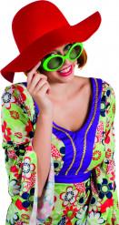 Sombrero de verano rojo mujer