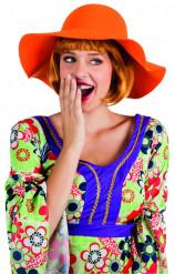 Sombrero de verano naranja mujer