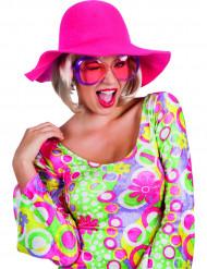Sombrero de verano rosa mujer