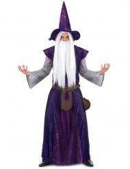 Disfraz mago brujo morado adulto