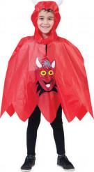 Poncho diablo niño Halloween