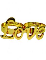Anillo dorado Love adulto