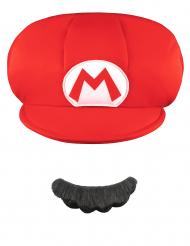 Gorra y bigote Mario™ niño