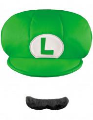 Gorra y bigote Luigi™niño