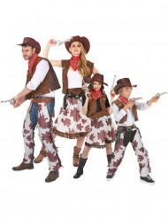 Disfraz de familia de cowboys
