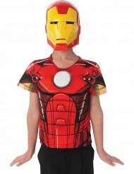 Pechera y máscara Iron Man Avengers Assemble™ niño