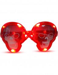 Gafas luminosas rojas calavera