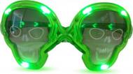 Gafas luminosas verdes calavera