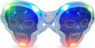 Gafas luminosas transparentes calavera