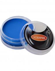 Maquillaje con base acuosa azul