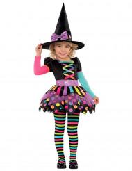 Disfraz bruja colores niña Halloween